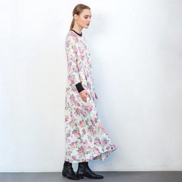 שמלת מקסי פרחונית מנטה