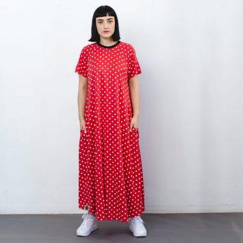 שמלת מקסי נקודות