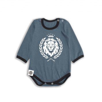 בגד גוף אריה אפור פלדה