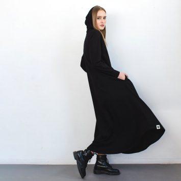 שמלת HOODIE שחורה🖤