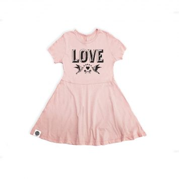 שמלת נסיכה LOVE ורוד