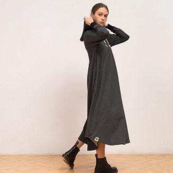 שמלת HOODIE | אפור