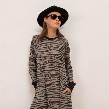 שמלת ספארי | אפור