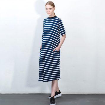 שמלת פסים מושלמת | כחול לבן