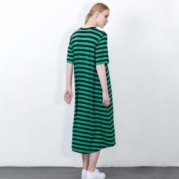 שמלת פסים מושלמת | ירוק שחור