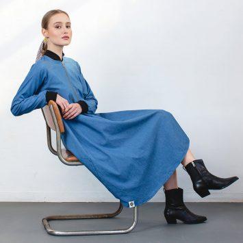 שמלת בומבר ג'ינס🔥