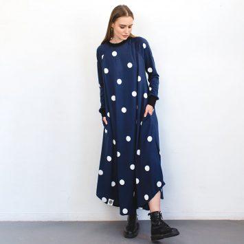 שמלת מקסי עיגולים