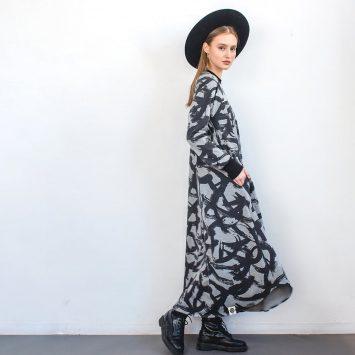 שמלת מקסי קליגרפיה🔥