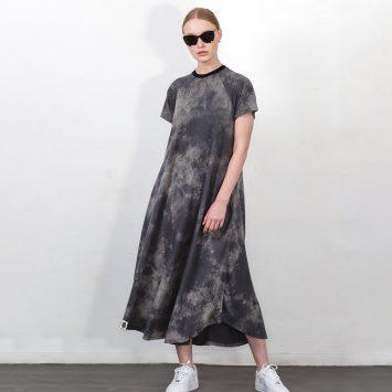 שמלת מקסי אסיד | אפור
