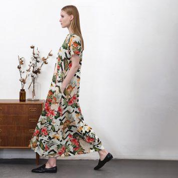שמלת מקסי נף-נף | טרופית