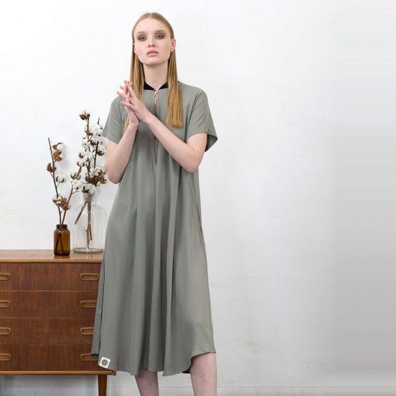 שמלת בומבר   ירוק מַרְוָה