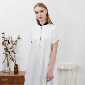 שמלת בומבר | לבן שמנת