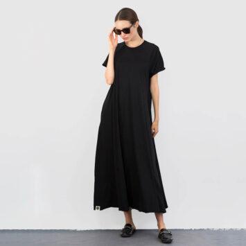 שמלת סווינג 100% כותנה 🖤 | שחור