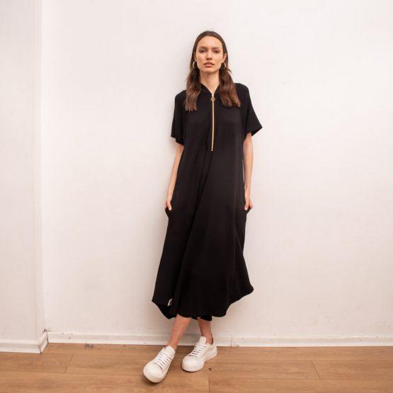 שמלת בומבר   שחור
