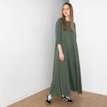 חדש!! שמלת סווינג PLUS | זית