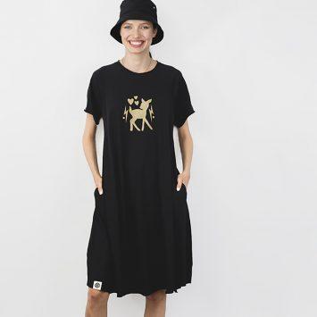 שמלת סווינג קצרה במבי⚡