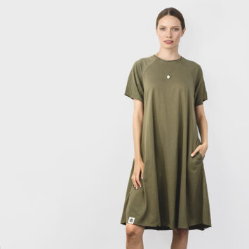 חדש!!שמלת סווינג קצרה | זית