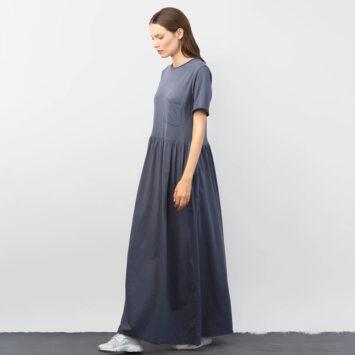 שמלת רוח מקסי |  אפור פלדה