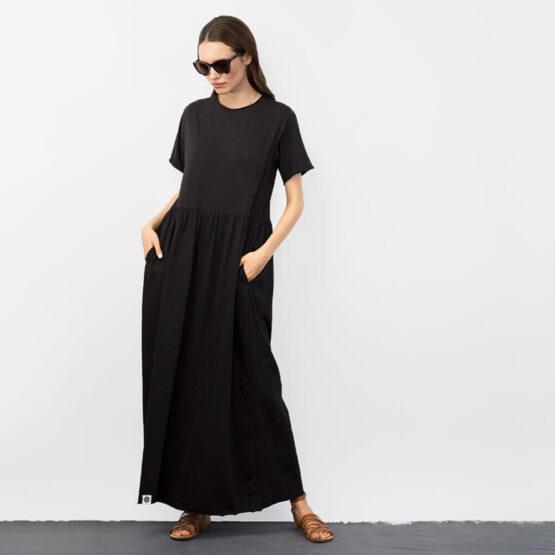 שמלת רוח מקסי   שחור