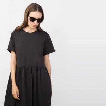 שמלת רוח מקסי | שחור