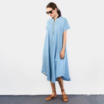 שמלת בומבר | ג'ינס בהיר