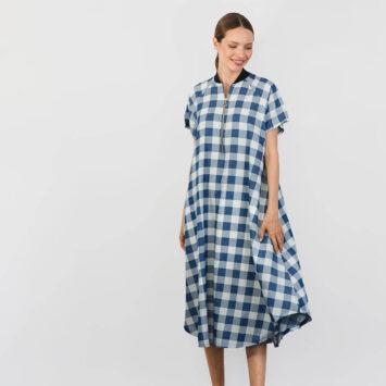 שמלת בומבר | משובצת