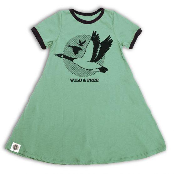 שמלת A עם כיסים אווזי בר