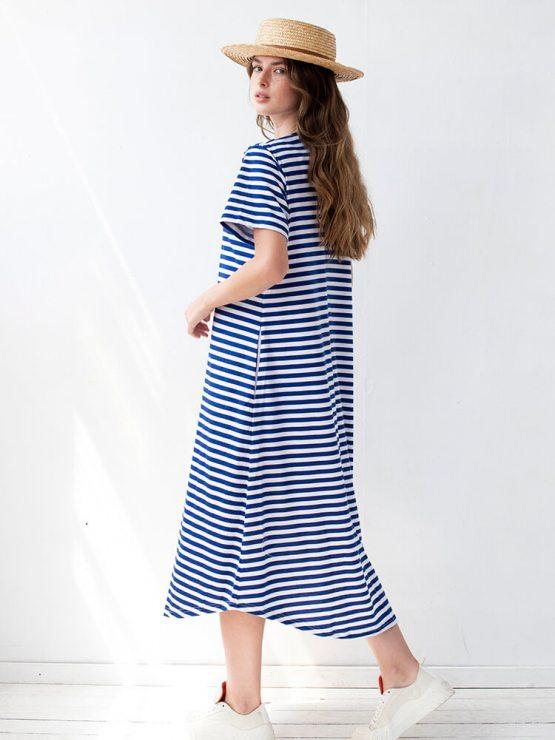 שמלת פסים מושלמת | כחול