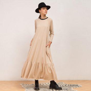 שמלת מקסי נף-נף אבן