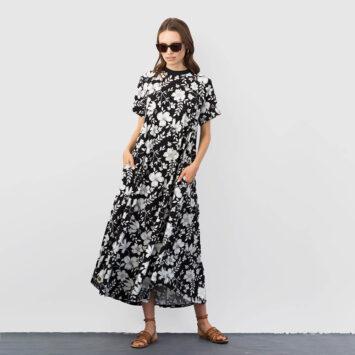 שמלת מקסי פרחים מונו