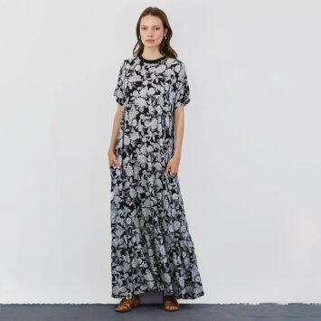 שמלת מקסי נף-נף פרחים מונו 🍒