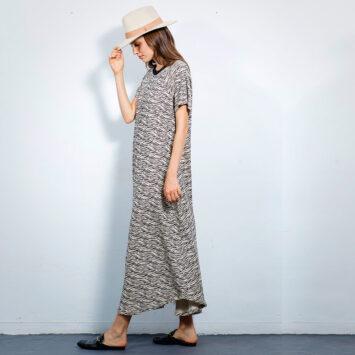 שמלת מקסי ניו ספארי | אבן