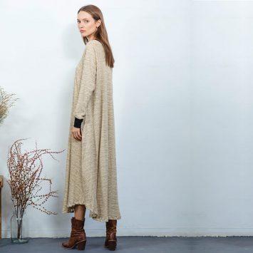 שמלת מקסי ניו ספארי | חול