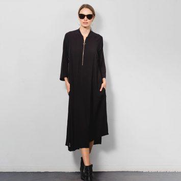 שמלת בומבר | שחור 🔴 PRE ORDER