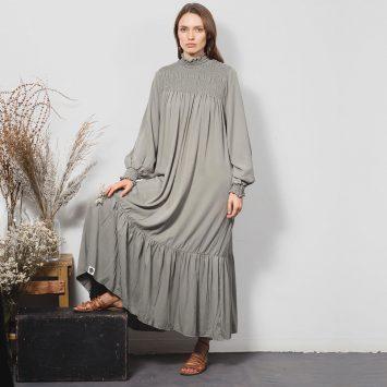 שמלת וואו! אפורה 🔴 35% PRE ORDER