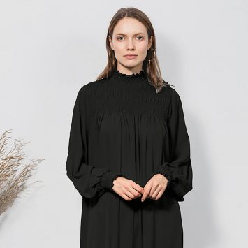 שמלת וואו! שחורה