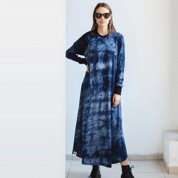 שמלת מקסי בלו נוט | כחול