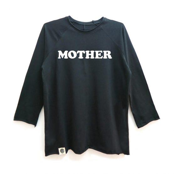 טי MOTHER ארוך |  שחור