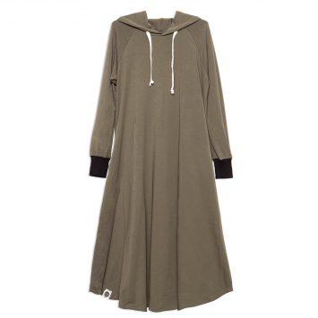 שמלת HOODIE   זית