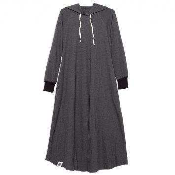 שמלת HOODIE   אפור