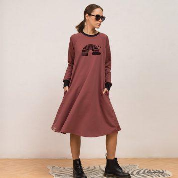 שמלת סווטשירט ריינבו