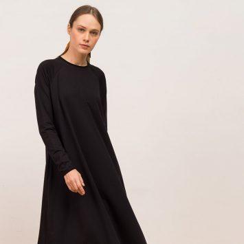 חדש!! שמלת סווינג סווטשירט | שחור🖤
