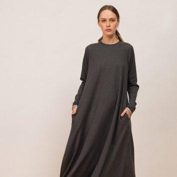 חדש!! שמלת סווינג סווטשירט | אפור