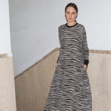 שמלת ספארי | אפור מקסי