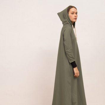 שמלת HOODIE | ירוק מרווה