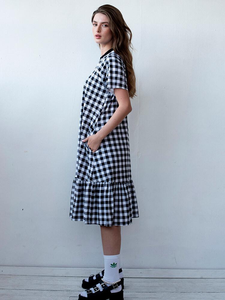 שמלת נף-נף מידי משובצת
