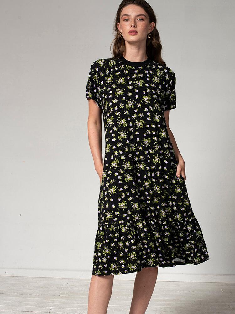 שמלת נף-נף מידי פרחונית
