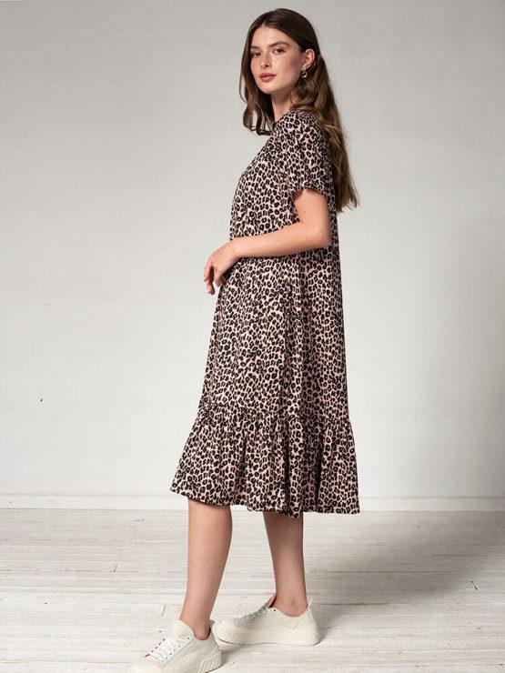 שמלת נף-נף מידי מנומרת