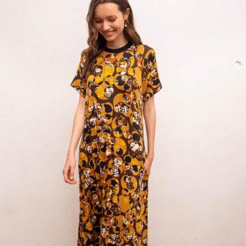 שמלת מקסי סבנטיז