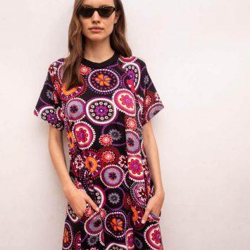 שמלת מקסי וודסטוק